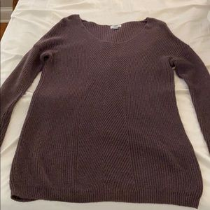 OLD NAVY long sleeved eggplant sweater dress/tunic